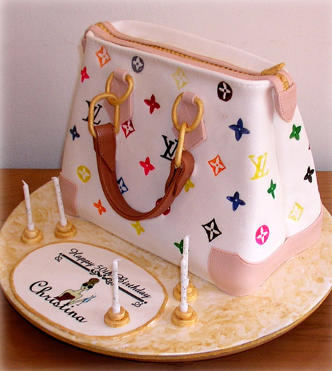 Louis Vuitton Monogram cake