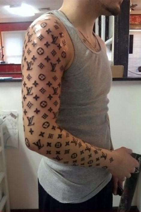 Louis Vuitton tattoo sleeve