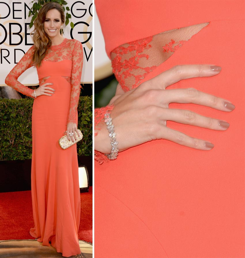 Louise Roe nails 2014 Golden Globes
