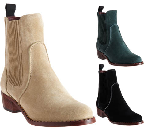 lovely fall boots Marc by Marc Jacobs suede Chelsea boots