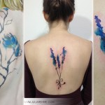 lovely flowers watercolor tattoos Julia Rehme