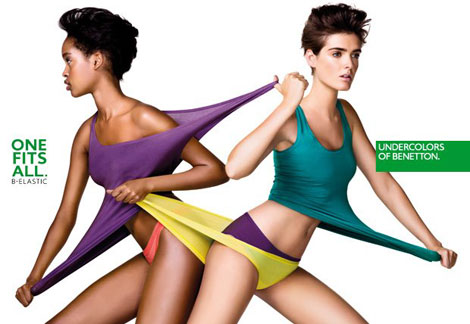 lovely lingerie campaign Marihenny Rivera United Colors of Benetton