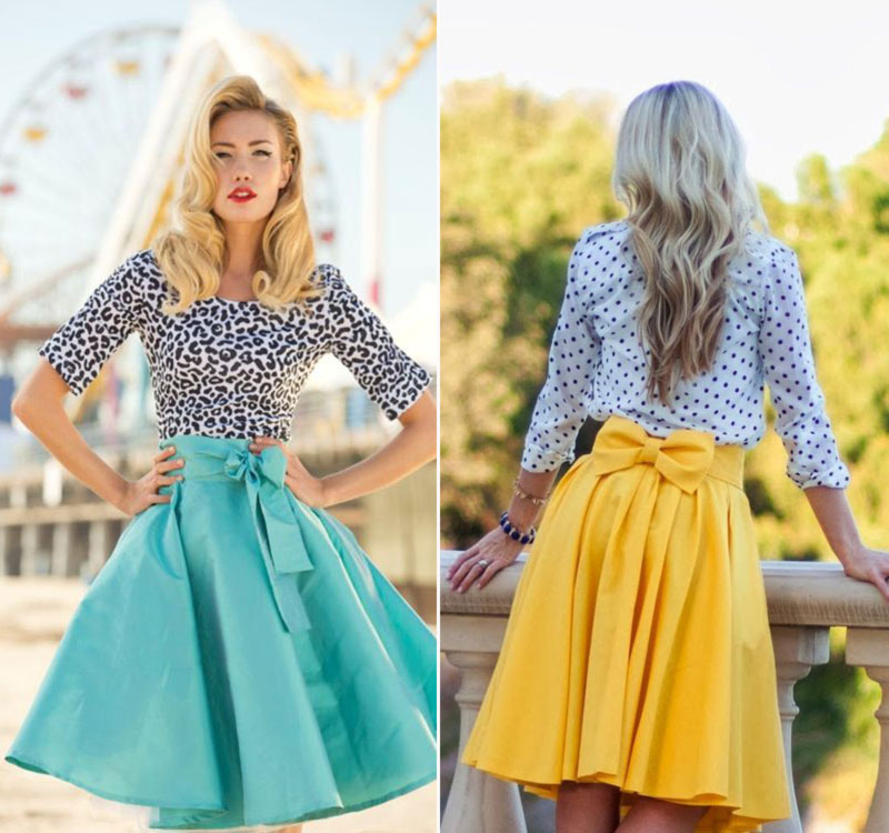 lovely ways to wear bows skirts