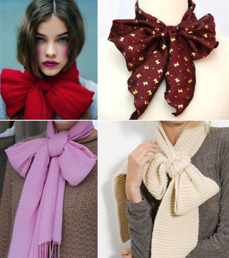 how to make a scarf into a bow