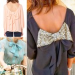 lovely ways to wear bows tops
