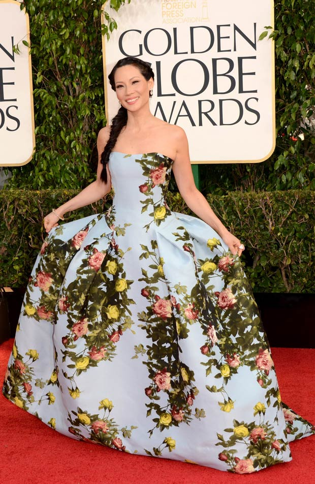 Lucy Liu 2013 Golden Globes fun on the Red Carpet