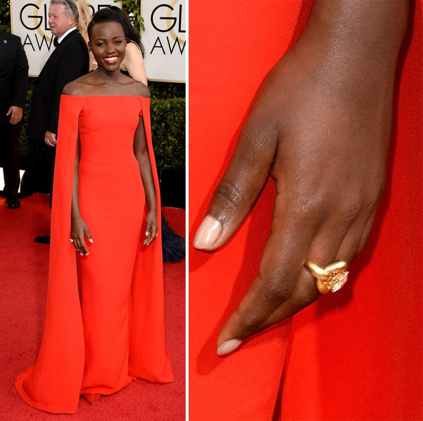 Lupita Nyong nails 2014 Golden Globes