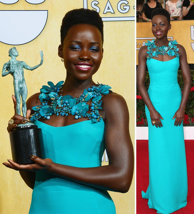 Lupita Nyong'o 2014 SAG Awards dress