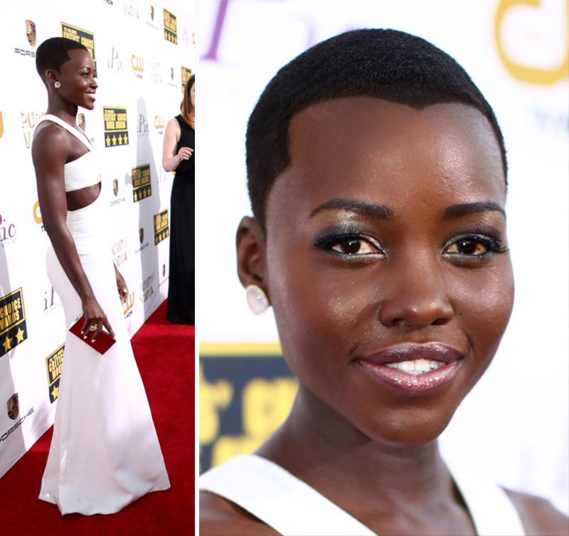 Lupita N Yong O hair dress Critics Choice Awards