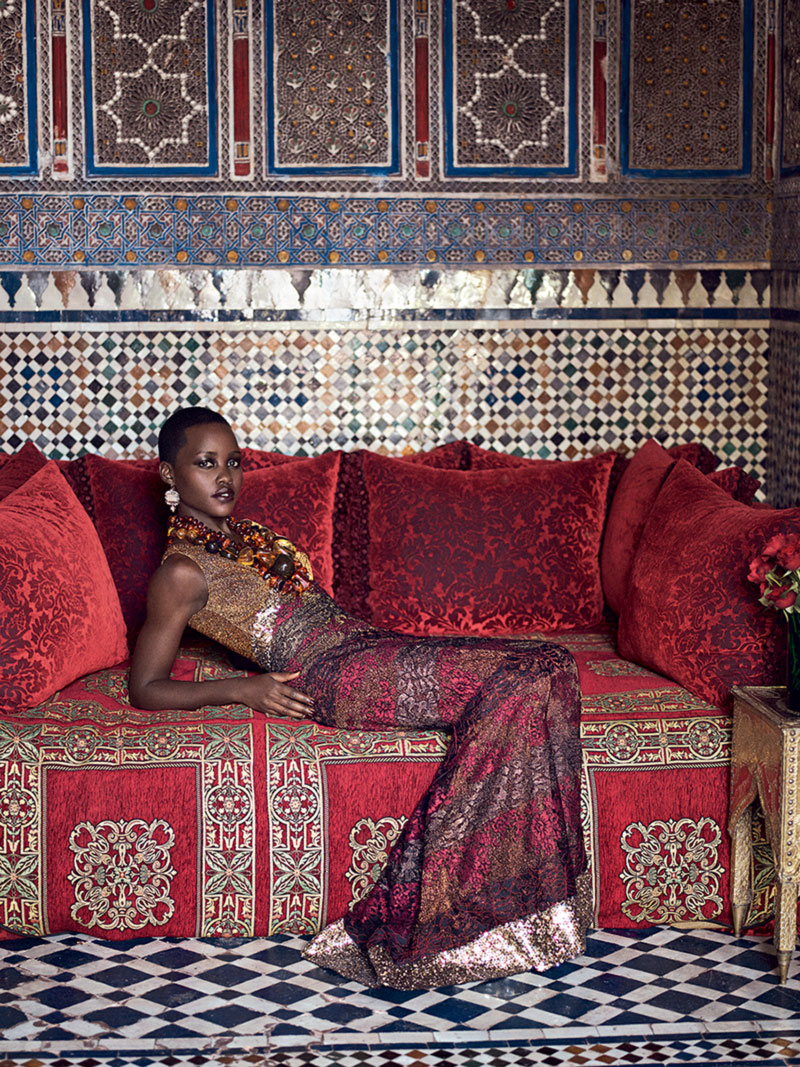 Lupita Nyong O Marrakech photographed for Vogue