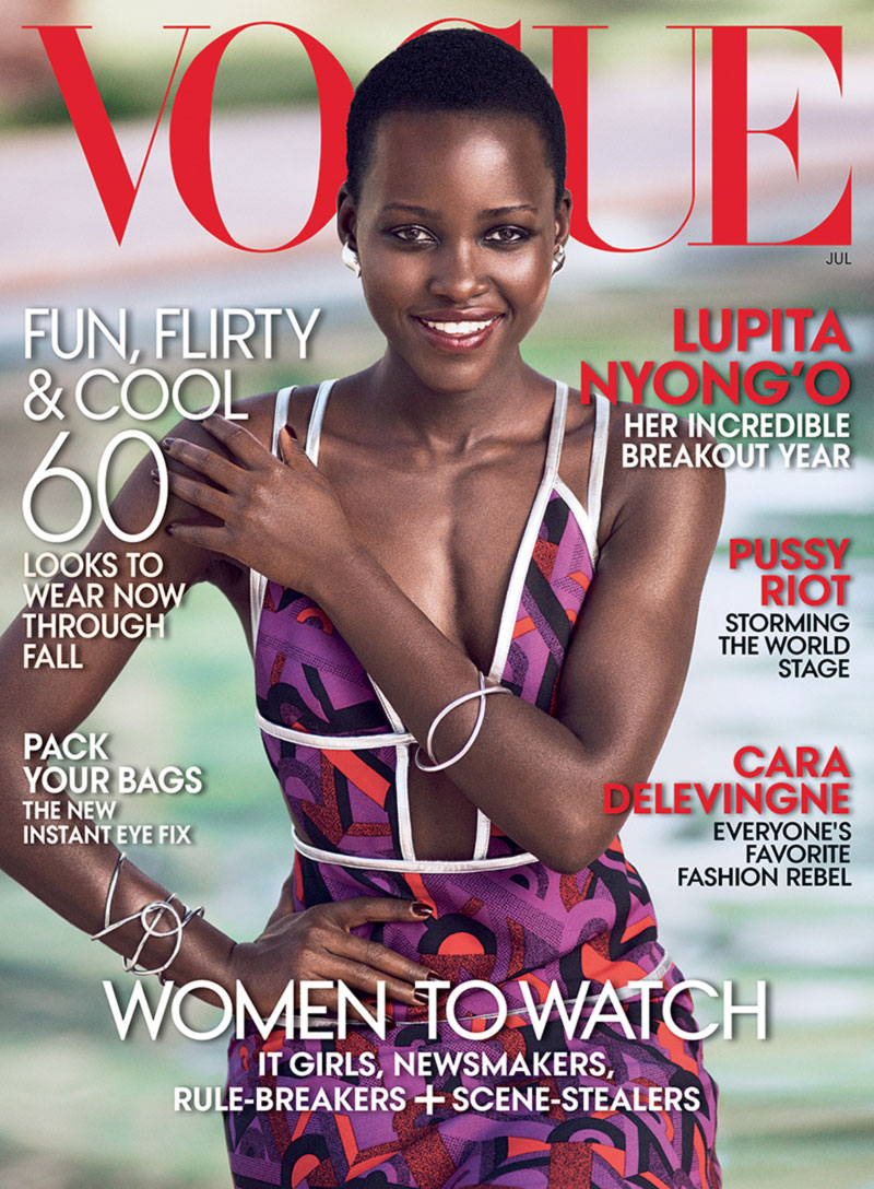 Lupita Nyong o Vogue cover July 2014