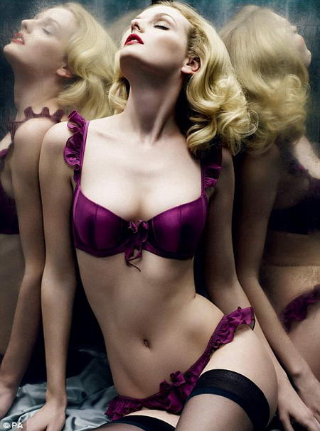 Lydia Hearst Myla Lingerie Advertising