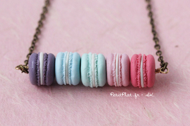 macarons necklace fimo jewelry petitplat