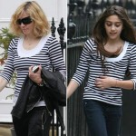 Madonna and Lourdes sharing clothes