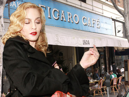 Madonna Cafe Figaro Louis Vuitton ads