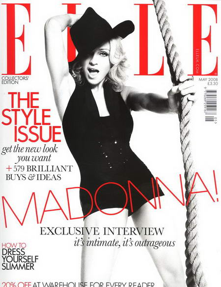 Madonna on Elle UK Cover May 2008