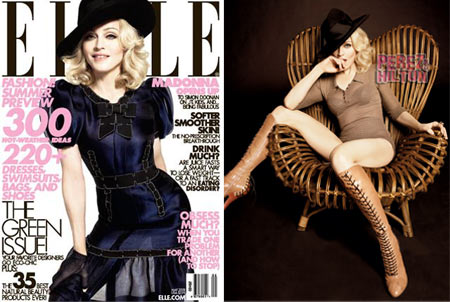 Madonna on Elle US Cover May 2008