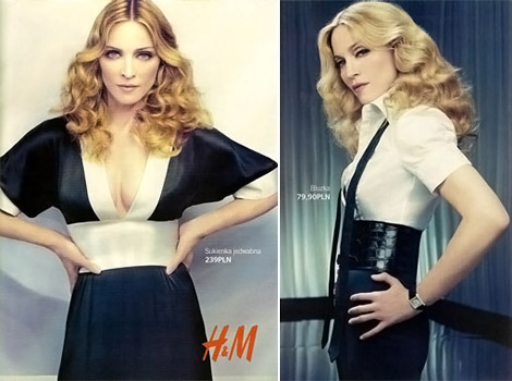 Madonna for H M Collection