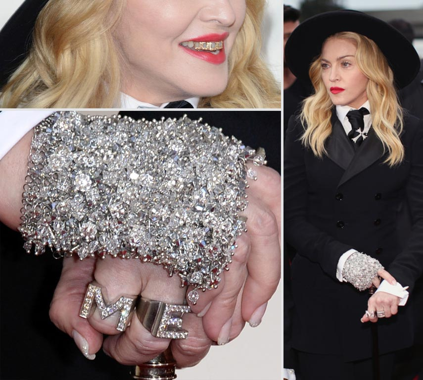 Madonna glove nails grills 2014 Grammy Awards