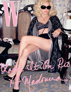The Sticky And Sweet Faces Of Madonna Vs W Magazine March 2009