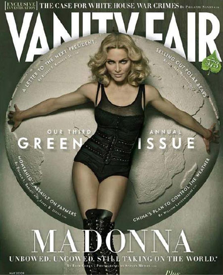 Madonna Takes Cover for Vanity Fair May 2008 Issue