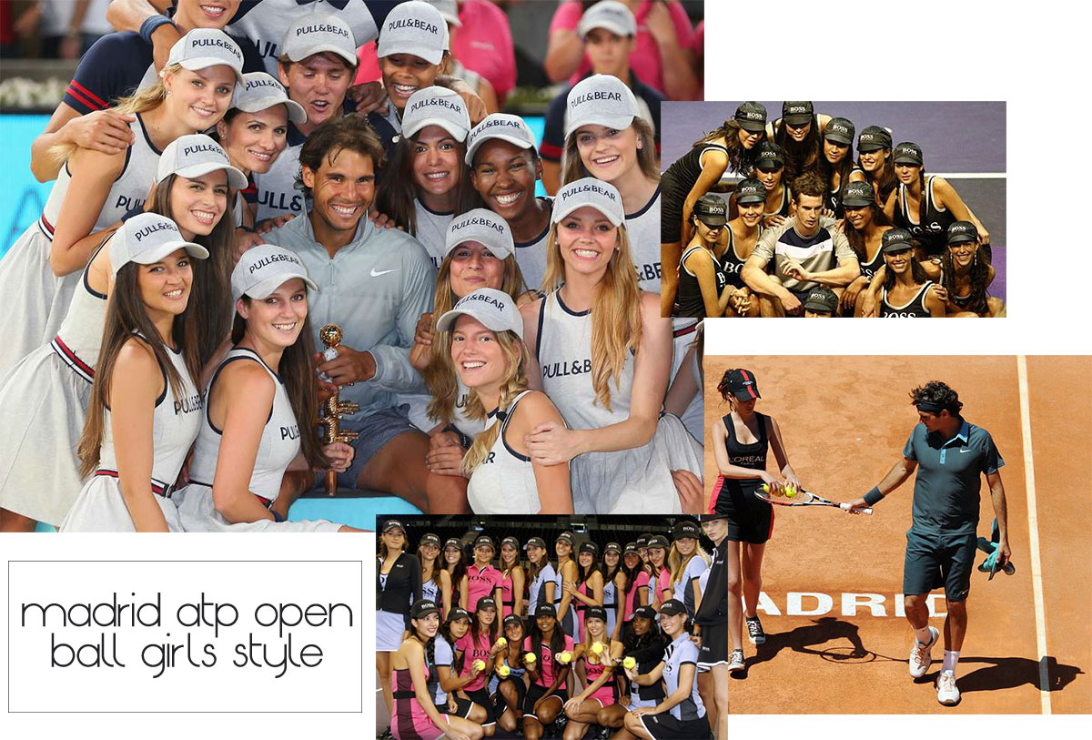 Madrid ATP Open tennis tournament ball girls