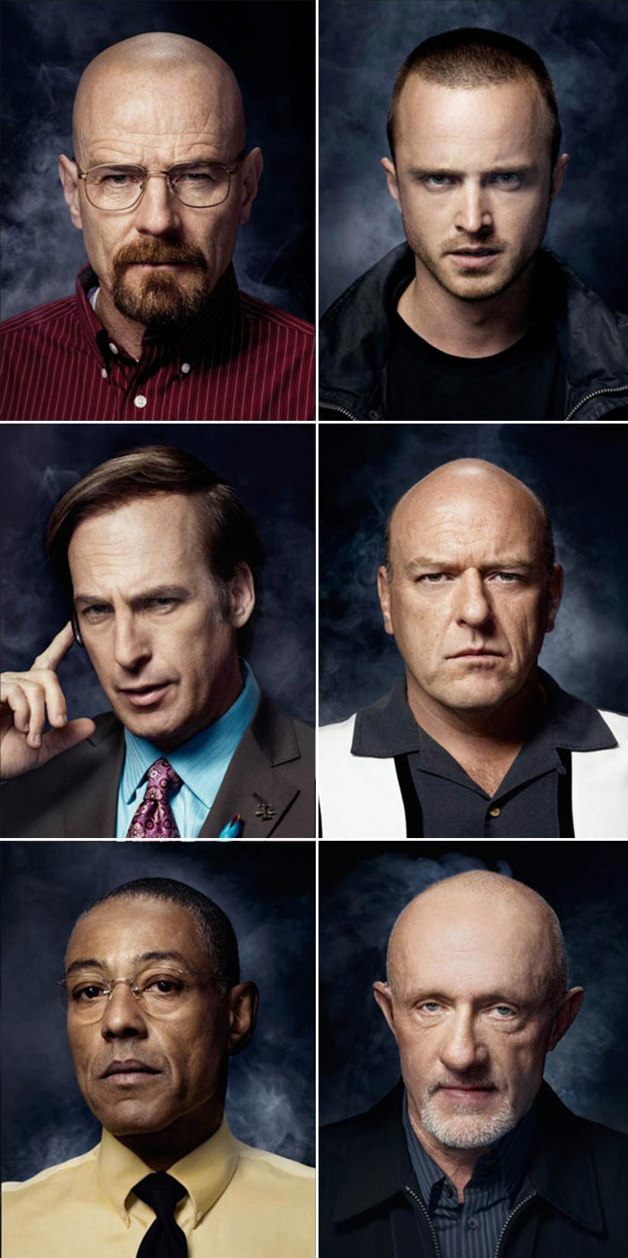 Main male characters from Breaking Bad
