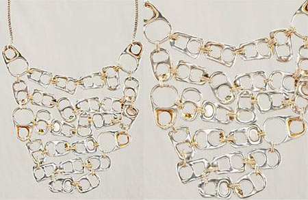 Maison Martin Margiela Can Tab Cascade Necklace