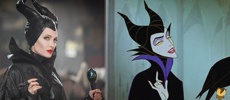 Maleficent Angelina Jolie based on the original drawings