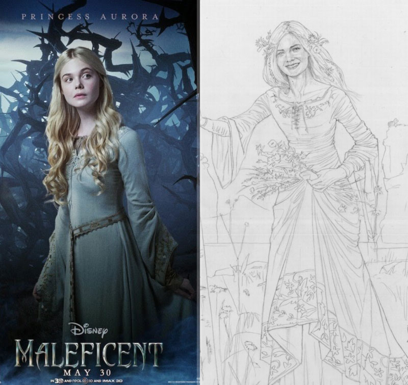 Maleficent Aurora Elle Fanning Costumes Stylefrizz Photo