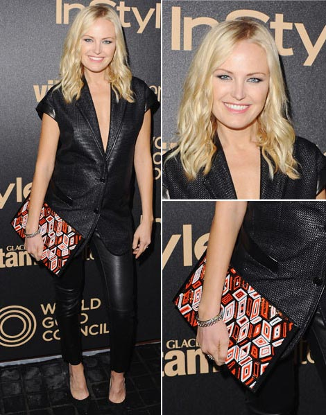 Malin Akerman Is Pregnant. Wearing Baby Bump & Leather Pants