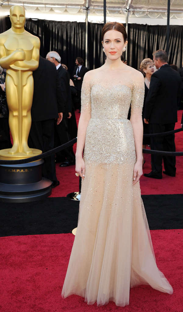 Mandy Moore's Monique Lhuillier Sequined Tulle Dress For 2011 Oscars