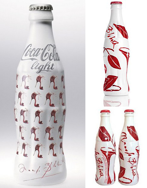 Manolo Blahnik Coca Cola light bottle