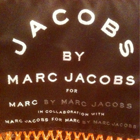 Marc by Marc Jacobs bag label