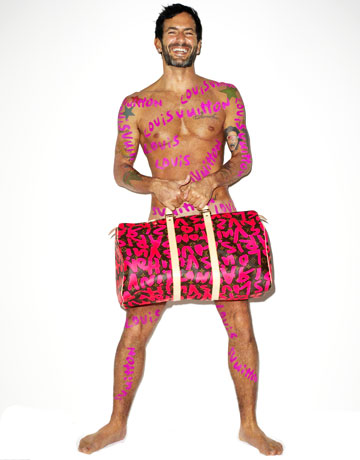 Marc Jacobs Ad for Stephen Sprouse Graffiti Collection 2008
