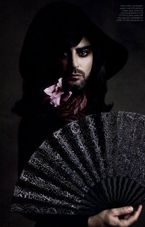 Marc Jacobs as a woman Industrie Magazine Patrick Demarchelier
