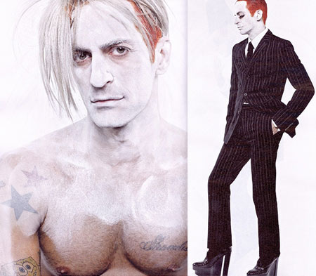 Marc Jacobs As Andy Warhol for Interview Magazine June-July 2008