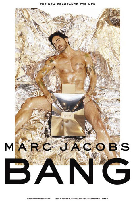 Marc Jacobs Bang perfume ad campaign