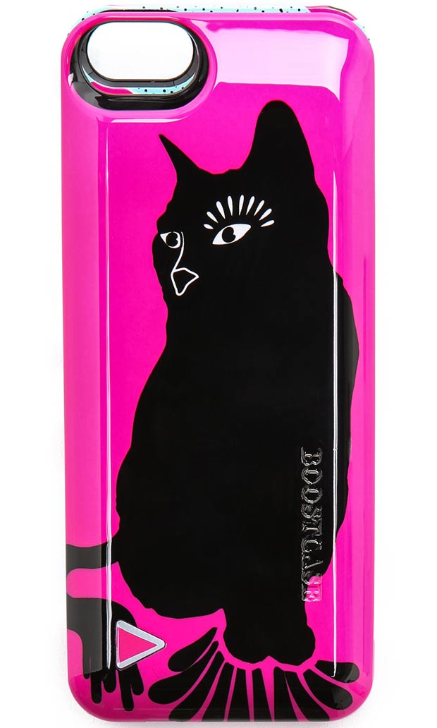 Marc Jacobs black cat phone case