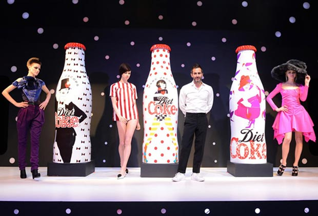 Marc Jacobs designed 3 bottles for Diet Coke 30th Anniversary
