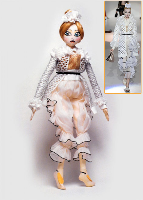 Marc Jacobs doll catwalk Andrew Yang