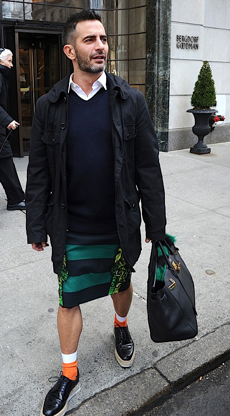 Marc Jacobs Wears Prada Skirt And Shoes