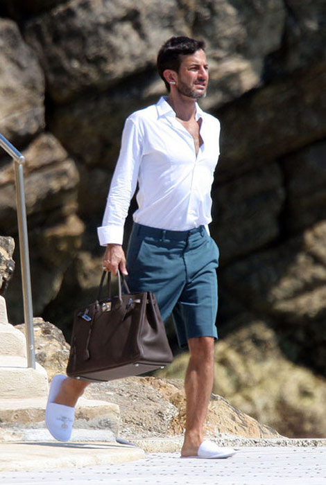 Marc Jacobs shorts Hermes Birkin