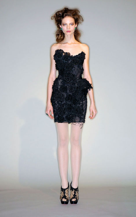 Marchesa Fall Winter 2010 2011 little black dress