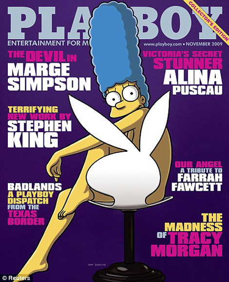 Marge Simpson Playboy November 2009 cover