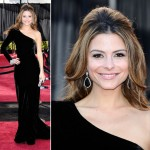 Maria Menounos black Johanna Johnson dress 2011 Oscars