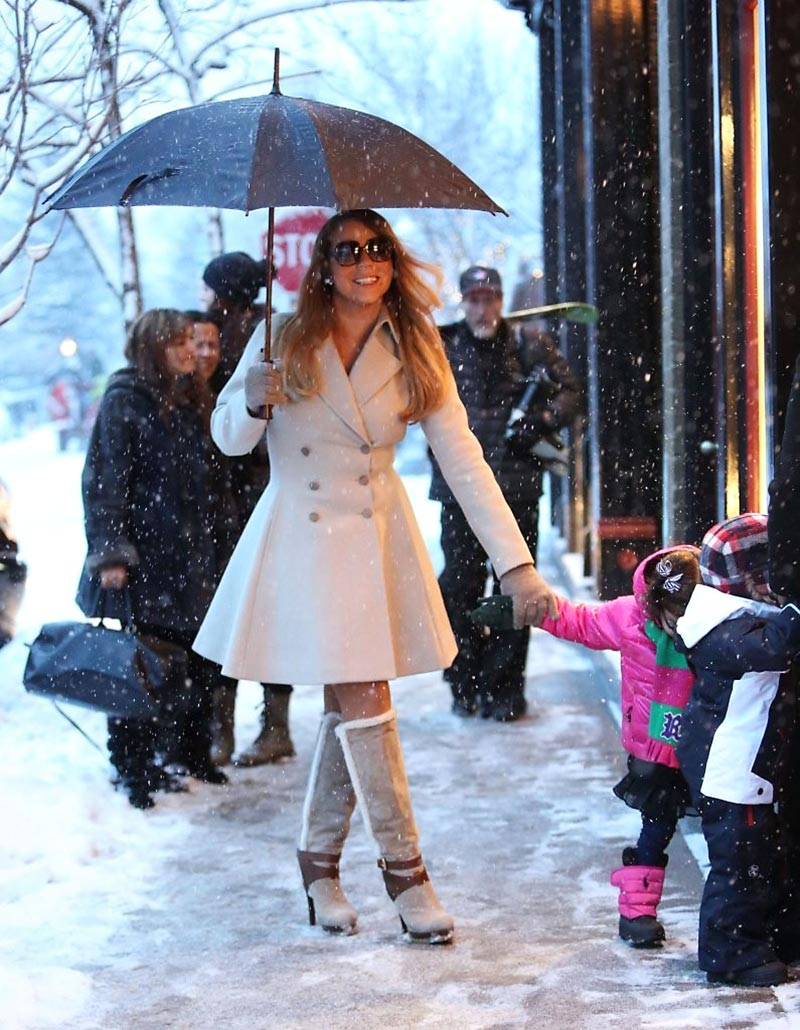 Mariah Carey boots Aspen with twins