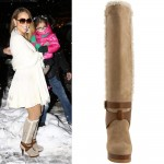 Mariah Carey high heels boots Fendi