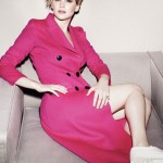 Marie Claire June 2014 Jennifer Lawrence pink trench