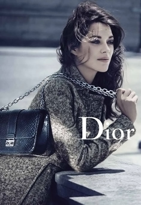 Marion Cotillard Christian Dior Miss Dior bags FW 11 12 ad campaign